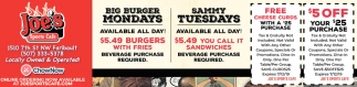 Big Burger Mondays | Sammy Tuesdays