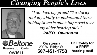 Changing People's Lives, Beltone - Owatonna, Mankato, MN