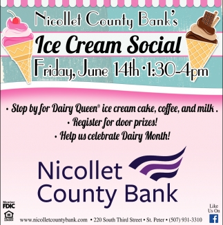 Ice Cream Social - June 14th