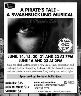 A Pirate's Tale -  A Swashbuckling Musical