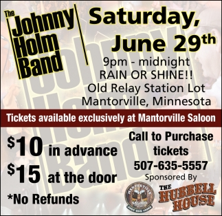 The Johnny Holm Band -  June 29th