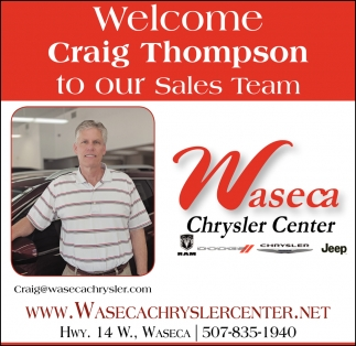 welcome Craig Thompson to our Sales Team