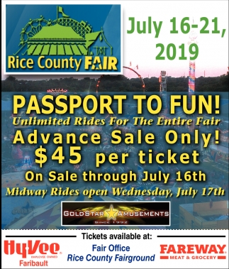 Passport to Fun! -  Unlimited Rides For The Entire Fair