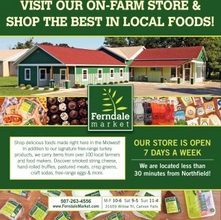 Visit our on-farm store & shop the best in local foods