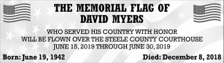 Memorial Flag of David Myers