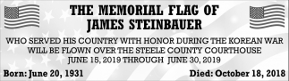 Memorial Flag of James Steinbauer