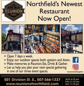 Northfield's Newest Restaurant Now Open!