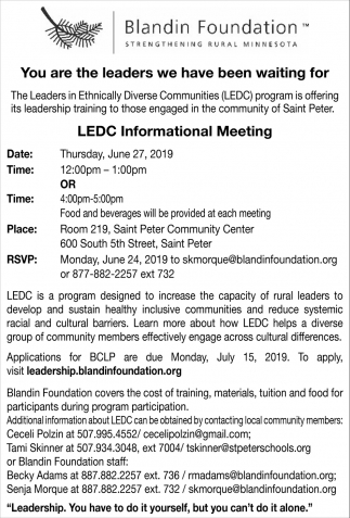 LEDC Informational Meeting