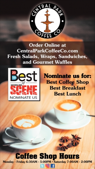Nominate us for: Best Coffee Shop, Best Breakfast, Best Lunch