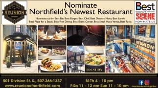 Nominate Northfield's Newest Restaurant