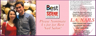 Please nominate Us for Best Nail Salon