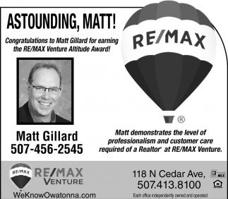 Astounding, Matt! Venture Altitude Award!