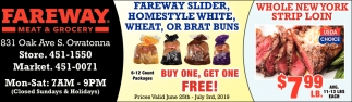 Fareway Slider Homestyle White, Wheat, Or Brat Bruns