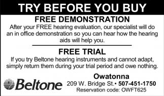 Free Demonstration