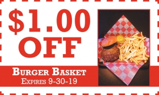 $1.00 off Burger Basket