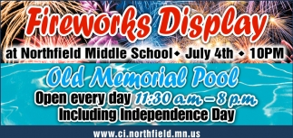 Fireworks Display - Old Memorial Pool