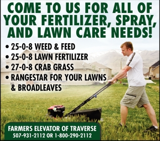 Come to us for all of your fertilizer, spray, and lawn care needs!