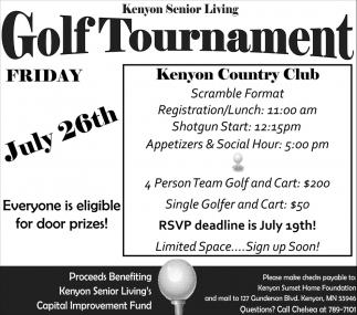 Golf Tournament - July 26th