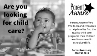Are you looking for child care?