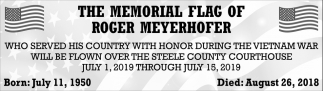 Memorial Flag of Roger Meyerhofer