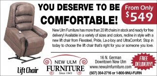 You deserve to be comfortable - From only $549