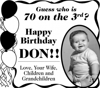 Happy Birthday Don