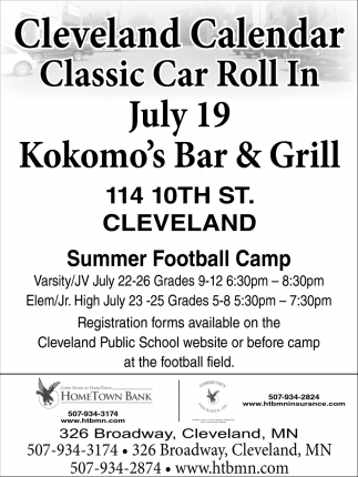 Classic Car Roll In / Summer Football Camp