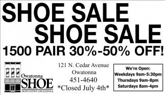Shoe Sale - 1500 pair 30% - 50% off