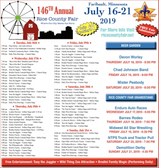 146th Annual Rice County Fair / July 16 - 21