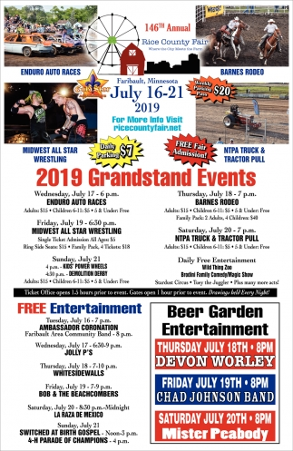 2019 Grandstand Events