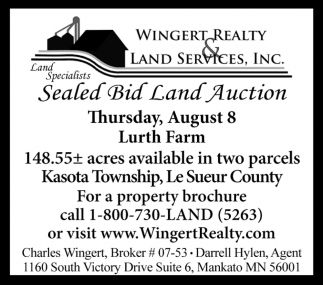 Sealed Bid Land Auction - August 8