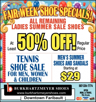 Fairv Week Shoe Specials!