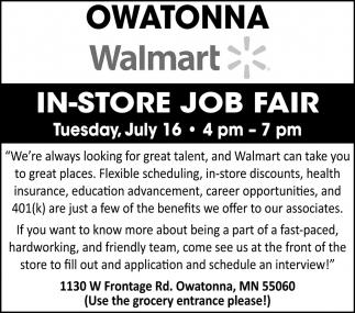 In-Store Job Fair