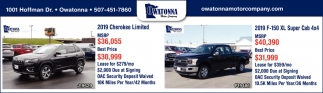 2019 Cherokee Limited / 2019 Ford F-150 XL