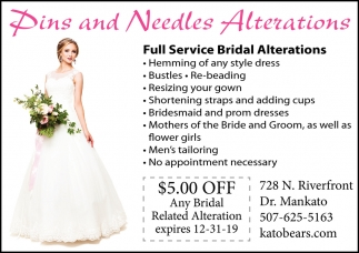 Full Service Bridal Alterations