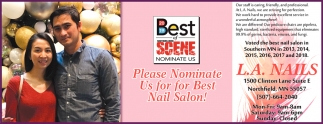 Please Nominate Us for Best Nail Salon!