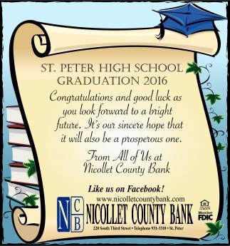 ST. PETER HIGH SCHOOL GRADUATION 2016