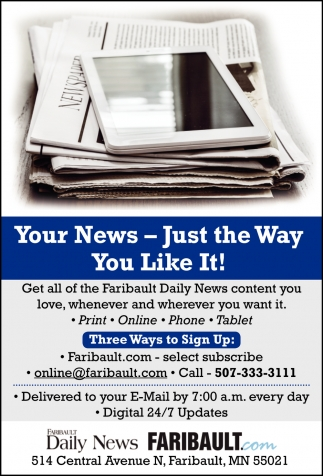 Your News - Just the Way You Like It!