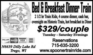 Bed & Breakfast Dinner Train