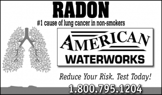 Radon #1 cause of lung cancer in non-smokers