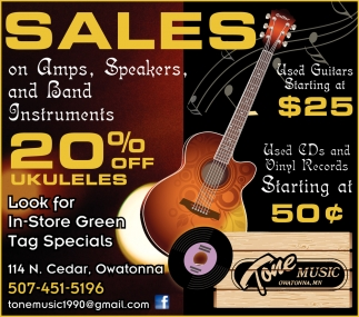 Sales on Amps, Speakers and Band Instruments