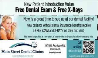 Free Dental Exam & Free X-Rays