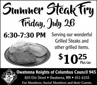 Summer Steak Fry