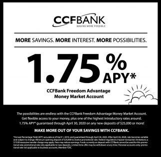 More Savings. More Interest. More Possibilities