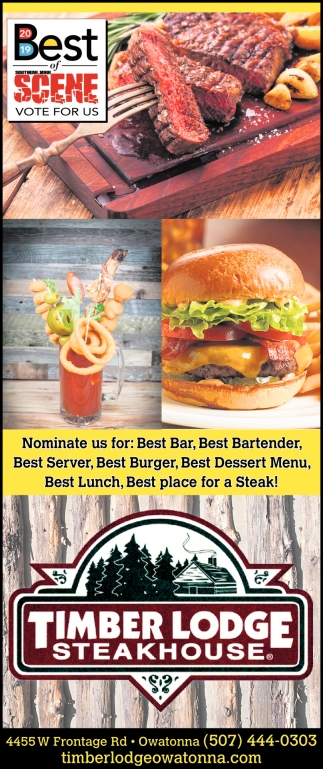Nominate us for: Best Bar, Best Bartender, Best Server, Best Burger, Best Dessert Menu, Best Lunch, Best place for a Steak