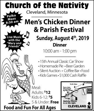 Men's Chicken Dinner & Parish Festival