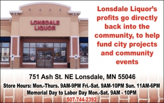 Lonsdale Liquor's profits go directly back into the community, to help fund city projects and community events