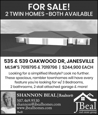 for Sale! 2 twin homes - both available