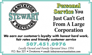 Personal Service You Just Can't Get From A Large Corporation