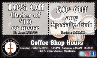 10% Off Order of $10 or more